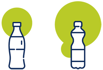 Icon showing bottles