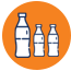 Icon of bottles